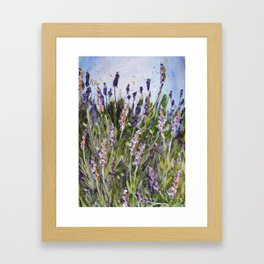LAVENDER SPLASHES - Original abstract floral painting by HSIN LIN / HSIN LIN ART Framed Art Print
