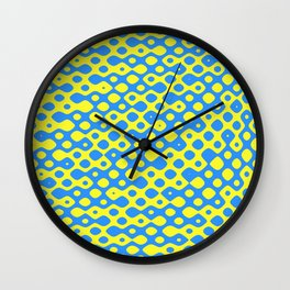 Brain Coral Blue Small Polyps - Coral Reef Series 026 Wall Clock