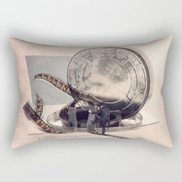 The film reel auditor Rectangular Pillow