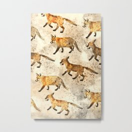 The Red Foxes Metal Print