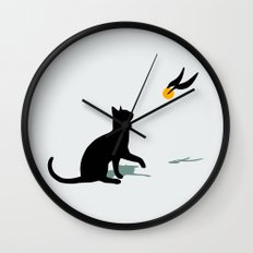 Cat and Snitch Wall Clock