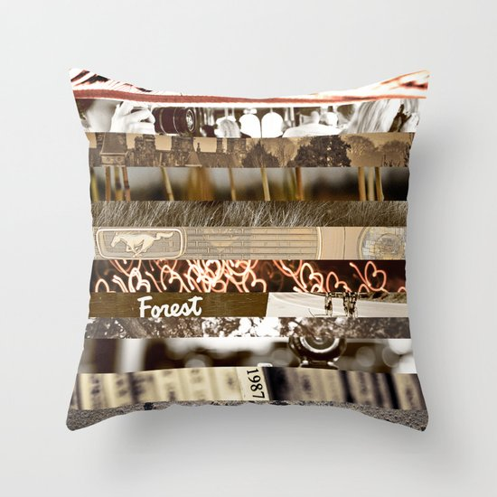 Brown Intersections Throw Pillow
