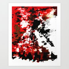 RED CHANEL BY Cd KIRVEN Art Print