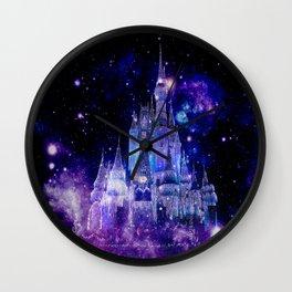Celestial Palace : Purple Blue Enchanted Castle Wall Clock