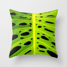 Monstera Leaf Throw Pillow