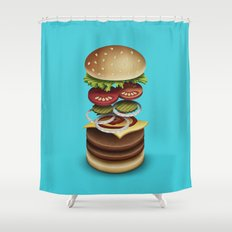 The Perfect Burger Shower Curtain