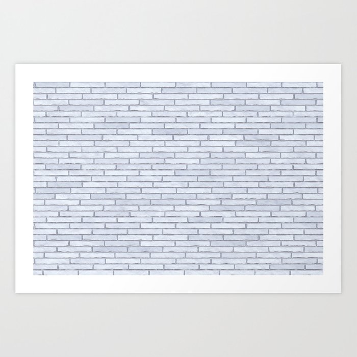 White Brick Wall Kunstdrucke