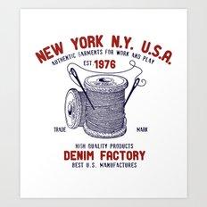 DENIM Factory Art Print