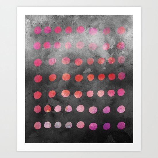 Watercolor Dot Pattern Pink Art Print