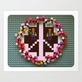 Peace & Love  Art Print