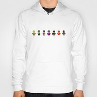 justice league Hoodies featuring Pixel League of Justice by PixelAvenger