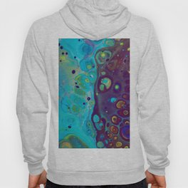 Where Blues Collide - Abstract Acrylic Art by Fluid Nature Hoody