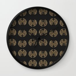 Odd order - Pattern of symmetric squeezed shapes Wall Clock