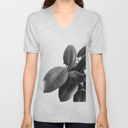 Ficus Elastica #23 #BlackAndWhite #foliage #decor #art #society6 Unisex V-Neck