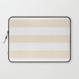Antique white -  solid color - white stripes pattern Laptop Sleeve