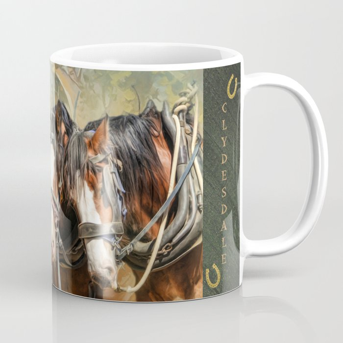 Clydesdale Conversation Coffee Mug