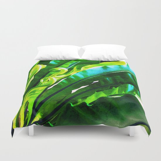 Shy Fern #society6 #decor #buyart Duvet Cover