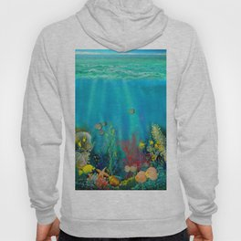 Undersea Art With Coral Hoody