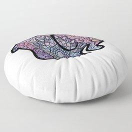 Galaxy Mandala Elephant Art Floor Pillow