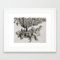 hong kong Framed Art Prints featuring Hong Kong by BenSack