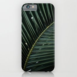 Green Palm Leaf Minimal Photo iPhone Case