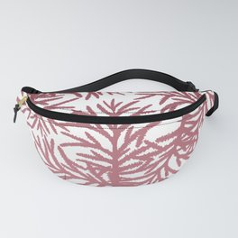 Hand Painted Pink Gradient Pine Tree Pattern Fanny Pack