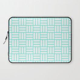 Basketweave (Turquoise & White Pattern) Laptop Sleeve