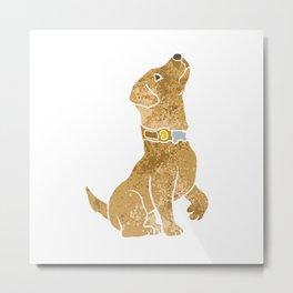 dog sitting. adopt a pet. Metal Print