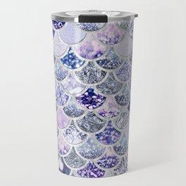 Purple and Ultra Violet Trendy Glitter Mermaid Scales Travel Mug