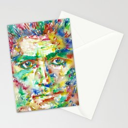 FRANZ KAFKA - watercolor portrait.2 Stationery Cards