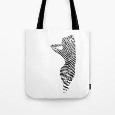 Fingerprint Silhouette Portrait No.2 Tote Bag