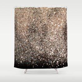 Sparkling GOLD BLACK Lady Glitter #1 #decor #art #society6 Shower Curtain