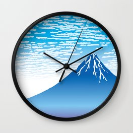 Hokusai Fuji under the Clear Sky Wall Clock