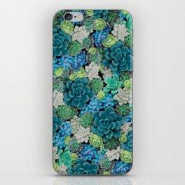 Green Succulents Plants & Cactus   Botanical Art iPhone Skin