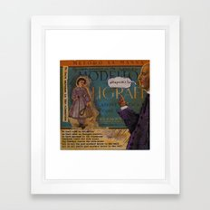 NO DARK SARCASM IN THE CLASSROOM Framed Art Print