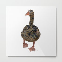 + Walk with Me + Geometric Goose Walking - Abstract Animal Geo Blue Green Red Metal Print