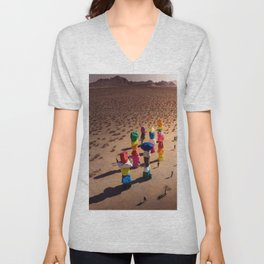 Strange Rocks - 7 Magic Mountains in Las Vegas Unisex V-Neck