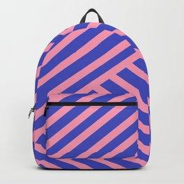 Crossing Lines - Pink & Blue Backpack