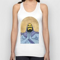 skeletor Tank Tops featuring Saint Skeletor by Ghirigori Lab