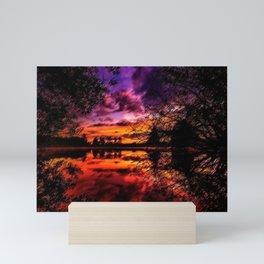 Sunrise on the Scituate Reservoir Landscape Painting by Jeanpaul Ferro Mini Art Print