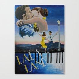 Vintage-Style La La Land Poster Canvas Print