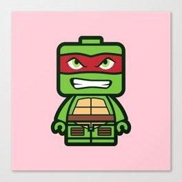 Chibi Raphael Ninja Turtle Canvas Print