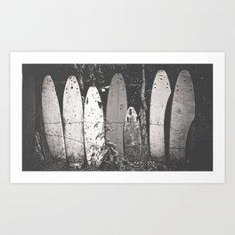 Dead Surfboard Art Print