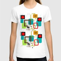 mid century modern T-shirts featuring Mid-Century Modern Inspired Abstract by Kippygirl