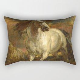 "Sir Anthony van Dyck ""Horses of Achilles"" Rectangular Pillow"