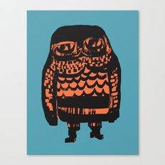 Little Seal (blue) Canvas Print