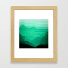 Green mountains Framed Art Print