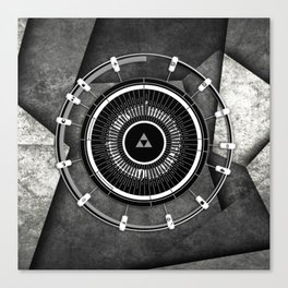 Abstract Circle Of Zelda Canvas Print