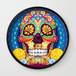 Sugar Skull Art (Incandescent) Wall Clock