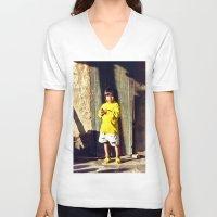 vietnam V-neck T-shirts featuring Cham Village of Vietnam by CAPTAINSILVA